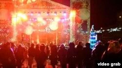 Празднования в Донецке, 21 декабря 2018 года (скриншот канала, подконтрольного «ДНР»)