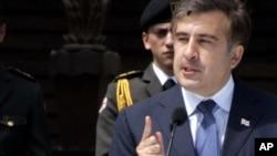 Президент Грузии Михаил Саакашвили, Тбилиси, 26 мая 2011