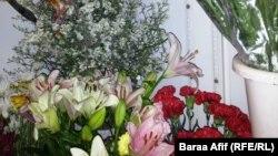 احد محلات بيع الزهور في بغداد