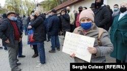 Protest organizat de PAS pentru independența Curții Constituționale, Chișinău, 26 aprilie 2021