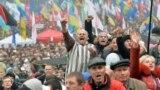 Protest la Kiev în sprijinul orientării europene a Ucrainei