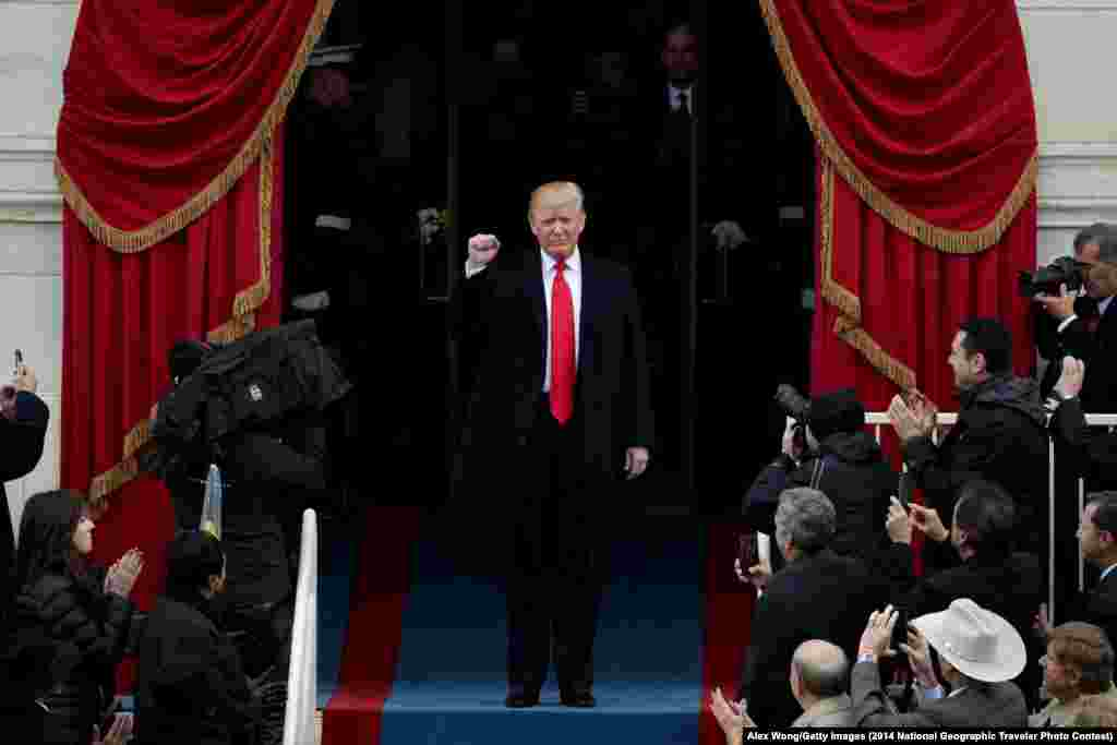 U.S. -- WASHINGTON, DC - JANUARY 20: President Elect Donald Trump arrives on the West Front of the U.S. Capitol on January 20, 2017 in Washington, DC. In today's inauguration ceremony Donald J. Trump becomes the 45th president of the United States.