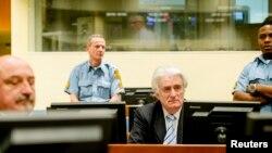 Radovan Karadžić na izricanju presude u Haškom sudu, 24. ožujka 2016.