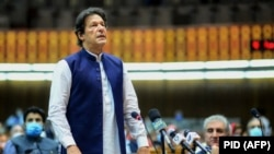 Pakistani Prime Minister Imran Khan and the leaders of some other countries have called for an outright cancellation of debt payments. (file photo)