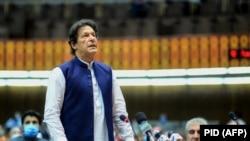 وزیر اعظم عمران د پاکستان قامي اسمبلۍ ته د وینا پر مهال. ۲۰۲۰، ۲۵ جون
