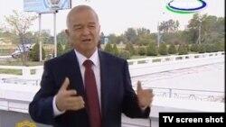 Хадрадаги фаввора президент Ислом Каримов