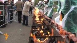 180 metr uzunluğunda şiş kabab