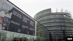 Pamje e ndërtesës së parlamentit Evropian në Strasburg