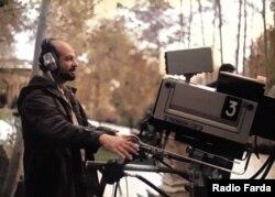 از معدود عکسهای بهیادگارمانده از منوچهر شمسایی با دوربینهای تلویزیونی قدیم