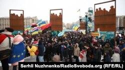 Протест во Киев против претседателот Порошенко. 18.03.2018