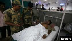 Indian soldiers injured in recent cross-border clashes with Pakistani forces