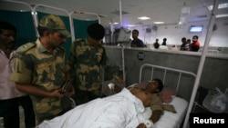 Индийский военнослужащий, раненый при нападении на армейский пост в раоне Джамму 11 августа