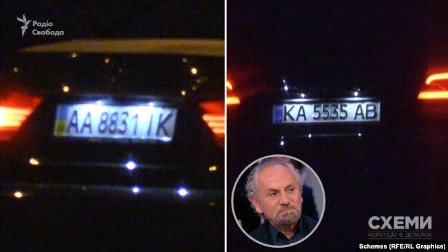 Обидві автівки зареєстровані на компанію, якою співволодіє телеведучий Савік Шустер