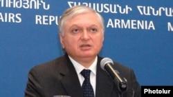 Министр иностранных дел Армении Эдуард Налбандян