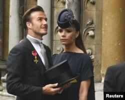 Britaniya - David Beckham və arvadı Victoria Şahzadə William-ın Kate Middleton ilə toyundan əvvəl, 2011