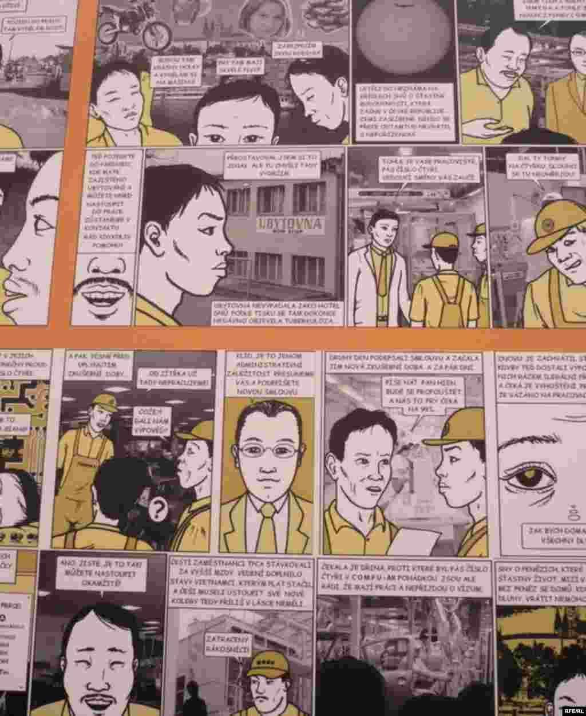 Мілош Барта - серія коміксів «Ми зустрілись поблизу Коліна» про працю в'єтнамців у Чехії - 6