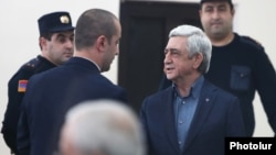 Հայաստանի երրորդ նախագահ Սերժ Սարգսյանը դատարանում, արխիվ