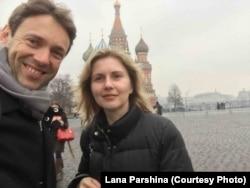 Жан-Кристоф Бризар и Лана Паршина в Москве