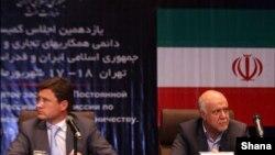 الکساندر نوواک وزیر انرژی روسیه و بیژن نامدار زنگنه وزیر نفت ایران