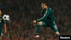 Cristiano Ronaldo, într-un meci Real Madrid vs Manchester United