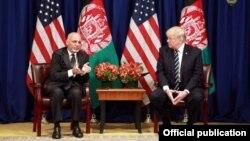 Дональд Трамп встречается с Ашрафом Гани в Нью-Йорке 21 сентября 2017 года