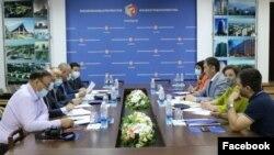 Казак-кыргыз делегацияларынын жолугушуусу.