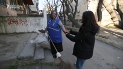 Treats For Cleaners On Women's Day In Azerbaijan