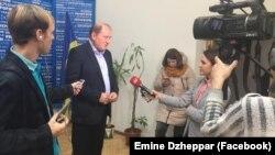 Ільмі Умеров спілкується з журналістами, 13 листопада 2017 року