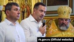 Голова підконтрольної Росії адміністрації Ялти Олексій Челпанов під час молебню на славу міста 11 серпня 2018 року