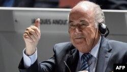 Йозеф Блаттер ФИФАнын 65-конгрессинин ачылышында. Цюрих, 28-май, 2015