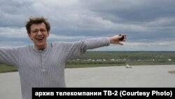 Андрей Мурашов на берегу Томи