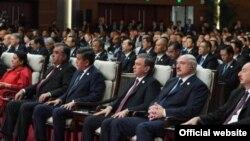 """Постсовет ҳудуди президентлари """"Бир макон¸ бир йўл"""" халқаро форумида."""