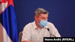 Direktor Infektivne klinike Kliničkog centra Srbije (KCS) Goran Stevanović, Beograd (22. jul 2020.)