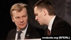 Віталь Рымашэўскі й Дзяніс Садоўскі, архіўнае фота