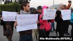 لافتات في ذكرى احياء احداث مجلس الوزراء 2011