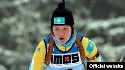 Биатлоншы Галина Вишневская жасөспірімдер арасындағы олимпиада ойындарында. Австрия, 2012 жыл.