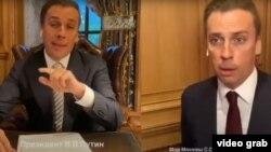 «Два андроида»: как Галкин пародировал Путина иСобянина
