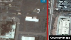 A satellite image showing a building at Natanz enrichment facility before (R) and after a July 2, 2020 incident. Courtesy: Iran International TV