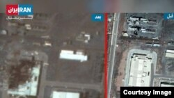 Iran - A satellite image showing a building at Natanz enrichment facility before and after a Jul2, 2020 incident.