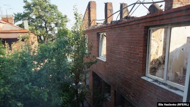 Ростов-на-Дону, место пожара 21 августа 2017 года