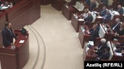 Алексей Песошин депутатлар алдында чыгыш ясый