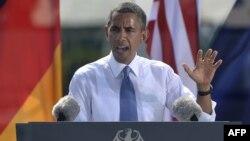 Գերմանիա - ԱՄՆ-ի նախագահ Բարաք Օբաման ելույթ է ունենում Բեռլինում, 19-ը հունիսի, 2013թ.