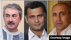 Mitinqə qatılan aktyorlar - Ayşad Məmmədov, İlqar Cahangir və Abbas Qəhrəmanov