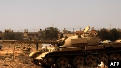 Libya -- Rebels guard the southern entrance of Tobruk, 17Mar2011