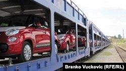 Prvi izvozni kontingent Fiata iz Kragujevca