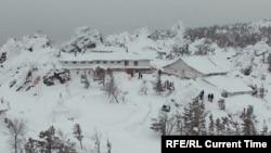 Кадр видеосъемки буддистского монастыря Шад тчуп Линг