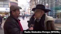 Enis Zebić u razgovoru sa hrvatskim filmskim producentom Brankom Lustigom, 2015.