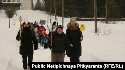 Акция в Питкяранте 23 февраля