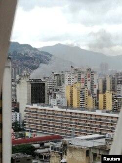 Задымленьне ў Каракасе