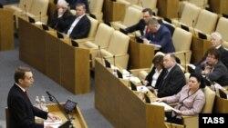 Спикер Госдумы Сергей Нарышкин во время пленарного заседания нижней палаты российского парламента